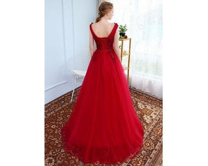 G127 (4) , Wine Prom Prewedding Shoot Trail Gown, Size (XS-30 to XL-40)