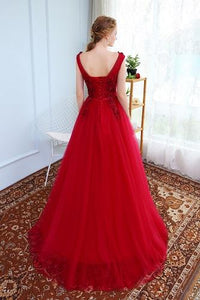G127, Wine Flower Prom Ball Gown, Size (XS-30 to XL-40)