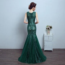 Load image into Gallery viewer, G78, Green Lace Tube Mermaid Gown, Size (XS-30 to L-36)