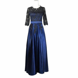 G101 (5) Blue and Black Maternity Baby Shower Gown, Size (XS-30 to 4XL-48)