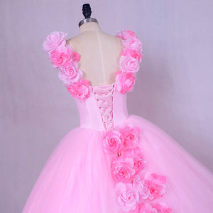 Pink Quinceanera Trail Gown, Size (XS-30 to L-38), G144