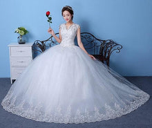 Load image into Gallery viewer, White Ball Gown S1, Size (XS-30 to XXL-44), W154