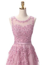 Load image into Gallery viewer, G80, Sweet Pink Lace Beading Long Gown, Size (XS-30 to L-38)