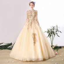 Load image into Gallery viewer, G147,Booked between Golden Ball Gown, Size (XS-30 to L-38),