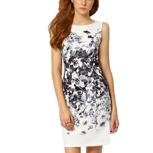 Printed Black and White Party Dress,Size (XS-30 to L-38)