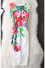 Load image into Gallery viewer, Sleeveless Floral Print Vestidos Party Dress,Size (XS-30 to L-38)