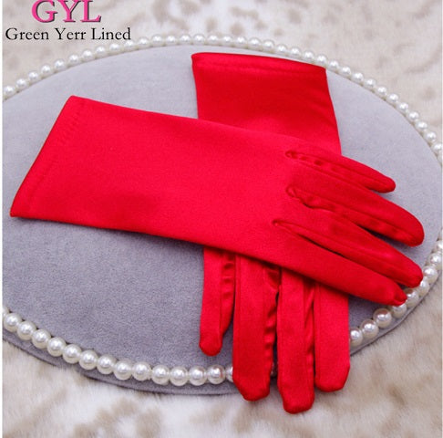 Red Satin Gloves