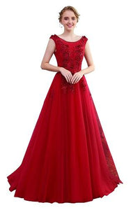 Wine Prom Prewedding Trail Gown, Size (XS-30 to XL-40)