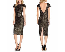 Load image into Gallery viewer, Short Black Club Dress, Size (XS-30 to L-36), G115,