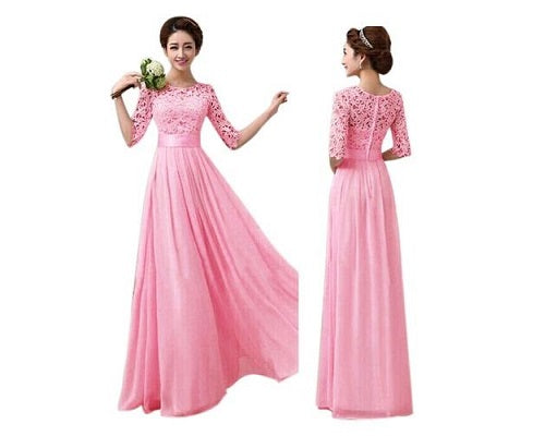 Magenta Color Evening Gown, Size (XS-30 to XXL-42)