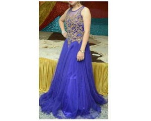 G110, Blue Gown, Size (XS-30 to XXL-42)