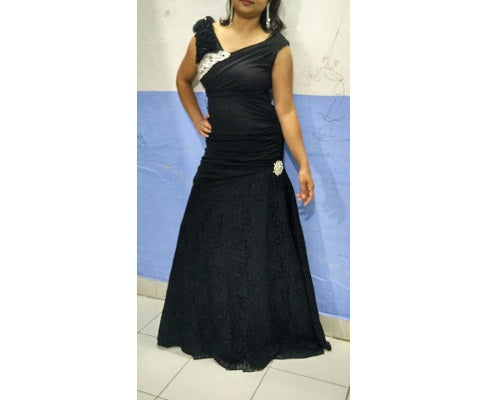 Black Gown, Size (XS-30 to L-36), G111,