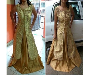 Golden Sharara, Size (XS-30 to XL-40), L51,