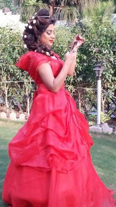 G142, Red Hood Ball Gown, Size (XS-30 to L-36)