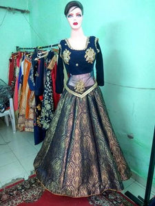 L1, Brocade Lehenga, Size (XS-30 to XL-42)