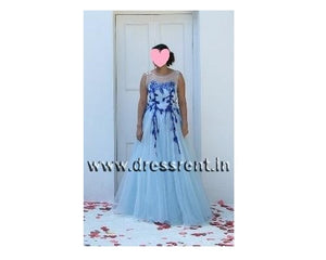 G167, Light Blue Ball Gown, Size (XS-30 toL-38)