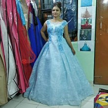Load image into Gallery viewer, Sweet Sky Blue Ball Gown, Size (XS-30 to XL-40), G88,