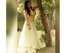 Load image into Gallery viewer, G117, Yellow Gown, Size (XS-30 to XL-40)