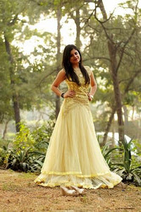 G117, Yellow Gown, Size (XS-30 to XL-40)