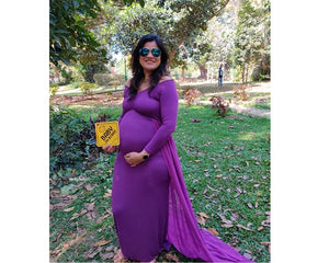 G41,(4) Purple Trail Gown, Size (XS-30 to XXL-44), Booking Status - Available