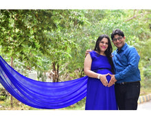 Load image into Gallery viewer, G138, Royal Blue Maternity Shoot Baby Shower Gown, Size - (XS-30 to L-40)
