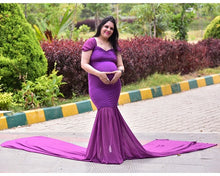 Load image into Gallery viewer, G218,(3) Purple Maternity Shoot Trail Baby Shower Gown, Size (XS-30 to XXL-42)