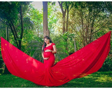 Load image into Gallery viewer, G215, Red Maternity Shoot Trail Baby Shower Gown, Size (XS-30 to XL-42)