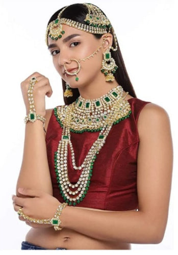 Bridal Jewellery Set Golden Green