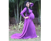 Load image into Gallery viewer, G41 (6) Purple Trail Gown, Size (XS-30 to XXL-44), Booking Status - Available