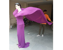 Load image into Gallery viewer, G346, Purple Maternity Shoot Baby Shower Trail Gown, Size (XS-30 to XXL-44)