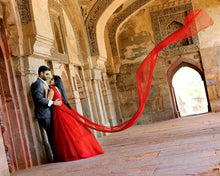 Load image into Gallery viewer, G127 (4), Wine Prom Infinity Prewedding Shoot Trail Gown, Size, (XS-30 to XL-40)