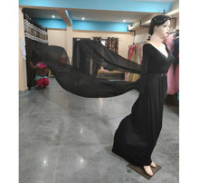 Load image into Gallery viewer, G206, Black Prewedding Infinity Long Trail Gown, Size (XS-30 to XL-40)