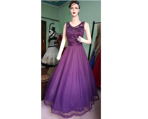 G107, Purple Gown, Size (XS-30 to L-36)