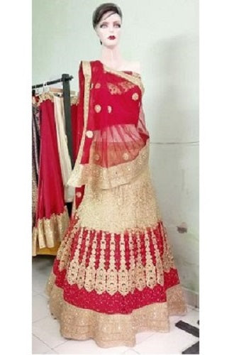 L40, Pink and Golden Lehenga, Size (XS-30 to XL-40)