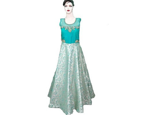 G96, Sea Green Gown, Size (XS-30 to L-38)