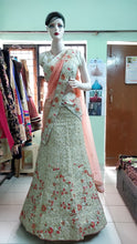 Load image into Gallery viewer, Cream threaded work lehenga, Size (XS-30 toXL-40), L19