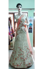 Load image into Gallery viewer, L19, Cream threaded work lehenga, Size (XS-30 toXL-40)