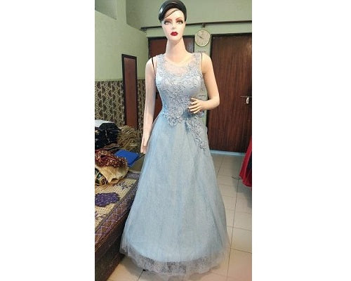 G17, Sky Blue Evening Gown,  Size (XS-30 to L-36)