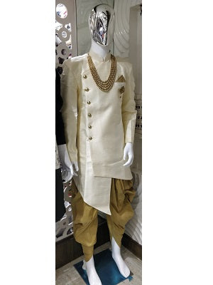 Cream Color Indowestern Men's Dress