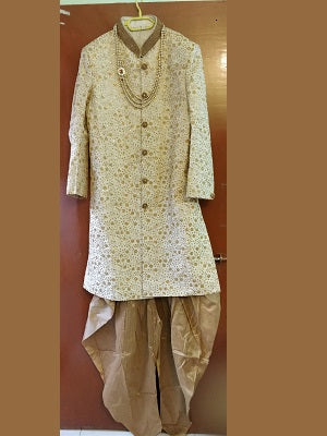 Cream Sherwani full Set