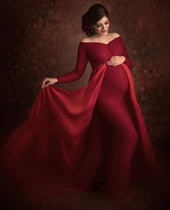 G44  (12)  Wine Red Trail Gown, Size (XS-30 to XXL-44)
