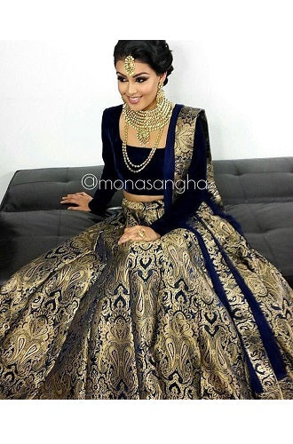 Brocade Lehenga, Size (XS-30 to XL-40)