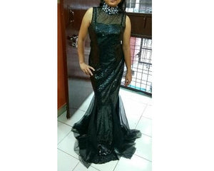 G97, Black Halter Neck Gown, Size (XS-30 to L-36)