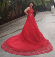 Load image into Gallery viewer, G141, Red Trail Gown Prewedding Shoot, Size (XS-30 to XL-40)
