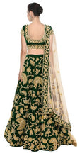 Load image into Gallery viewer, L33, Green Embroidered Lehenga, Size (XS-30 to XL-40)