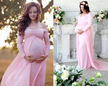 Load image into Gallery viewer, G156 (5) Pink Maternity Shoot Trail Baby Shower Gown, Size (XS-30 to XXL-44),