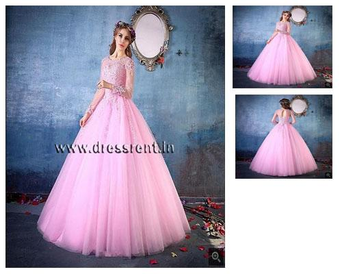 G149, Pink Victoria Ball Gown (Engagement Gown), Size (XS-30 to L-36)