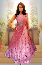 Load image into Gallery viewer, L7, Pink Saree Gown (Raashi Khanna), Size (XS-30 to XXL-42)