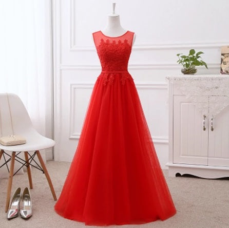 G283, Red Evening Gown, Size (XS-30 to XL-40)