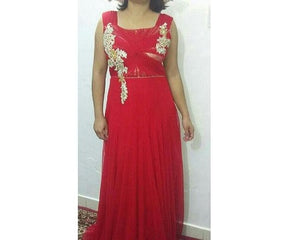 G114, Red Lace Gown, Size (XS-30 to XXL-42)